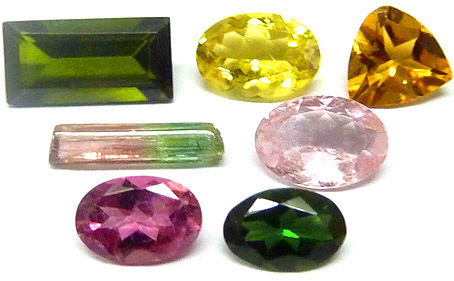 Coffret de gemmologie ou de collection TOURMALINES